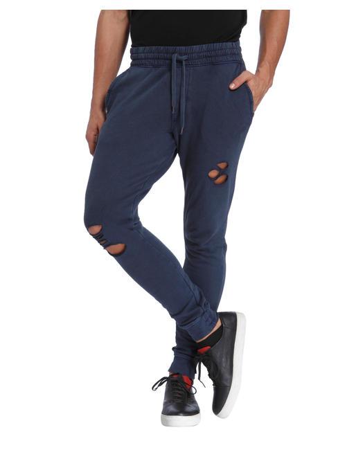 Blue Ripped Sweatpants