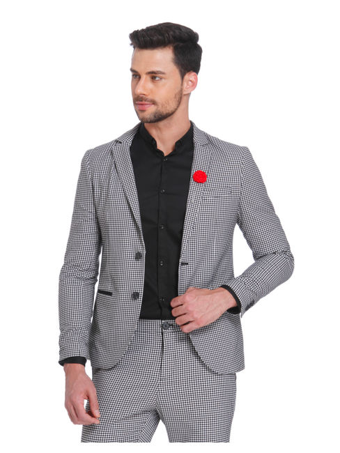 Gingham Slim Fit Blazer