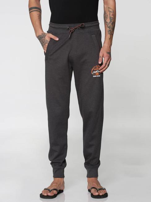 Dark Grey Drawstring Trackpants