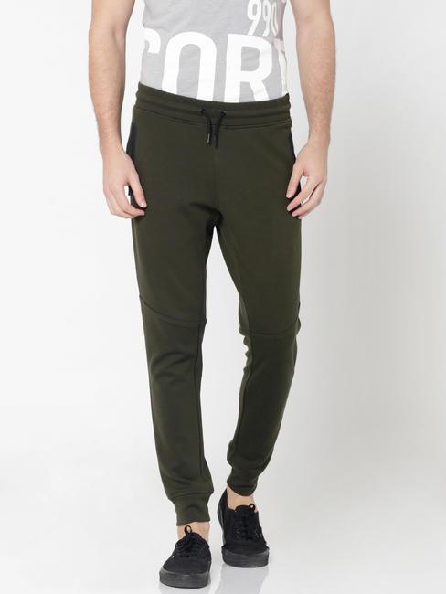 Olive Green Drawstring Sweatpants