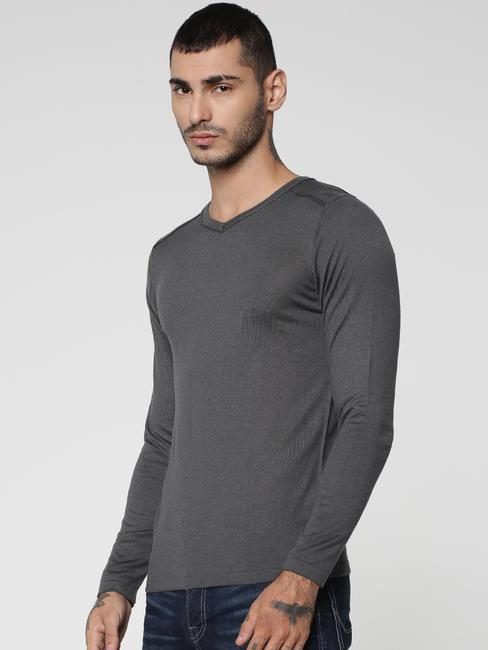 Grey V-Neck Sweatshirt
