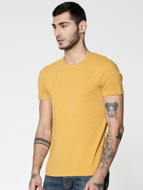 Orange Slim Fit Crew Neck T-shirt