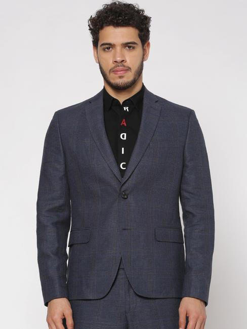 Blue Double Button Blazer