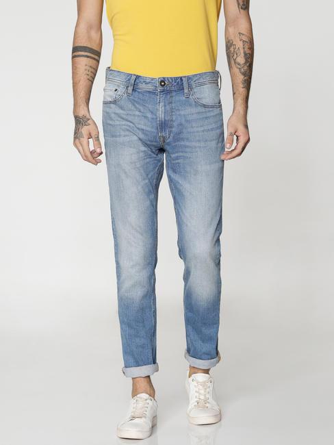 Blue Washed Tim Slim Fit Jeans