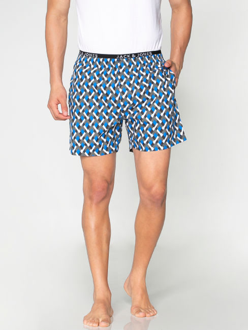 Blue All Over Printed Boxers