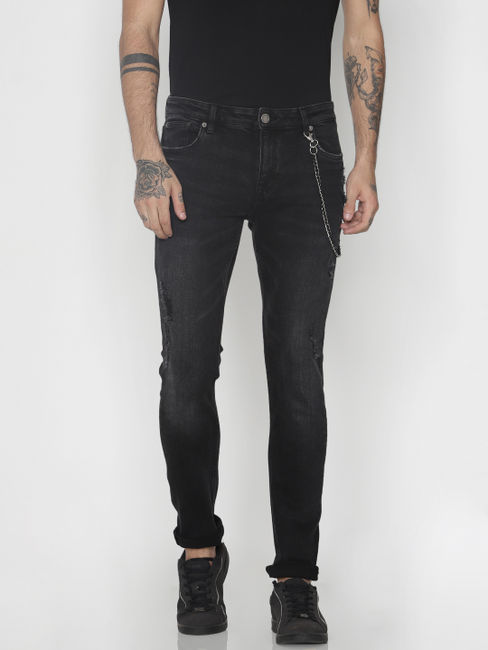 Black Ripped Liam Skinny Fit Jeans