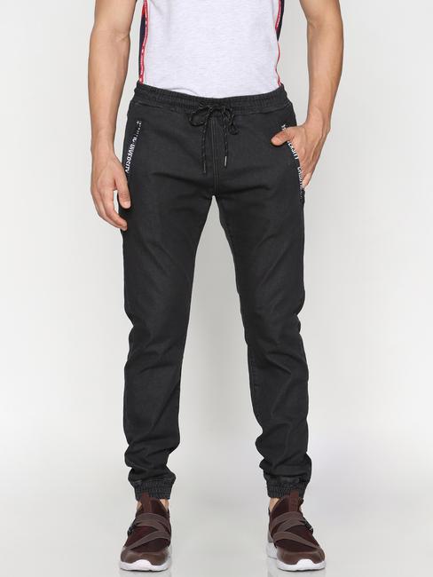 Black Drawstring Erik Anti Fit Jeans