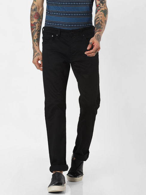 Black Clark Slim Fit Jeans
