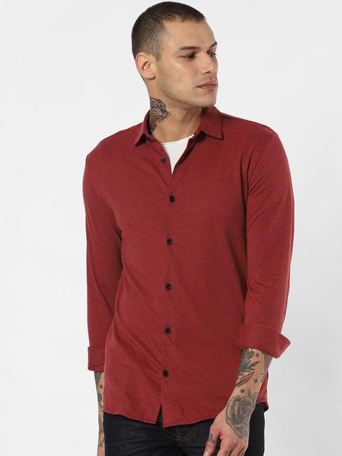 Red Full Sleeves Shirt