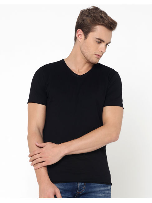 Black V-Neck T-Shirt