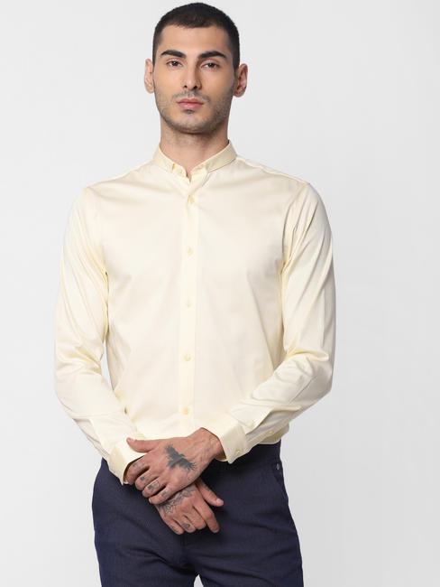 Yellow Formal Full Sleeves Shirt