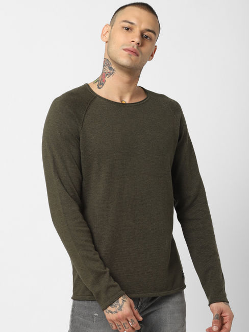 Olive Crew Neck Pullover