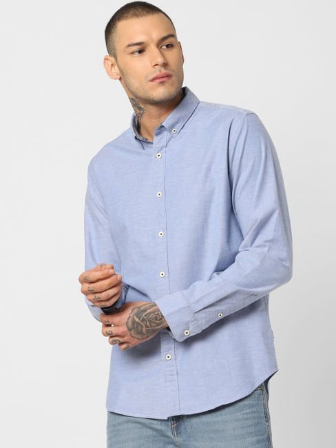 Blue Full Sleeves Shirt