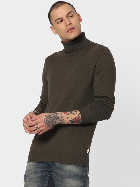 Olive Turtle Neck Pullover