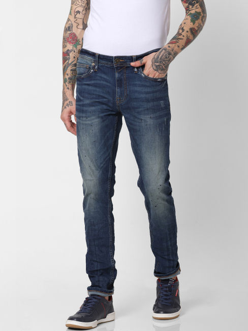 Blue Low Rise Ben Skinny Fit Jeans