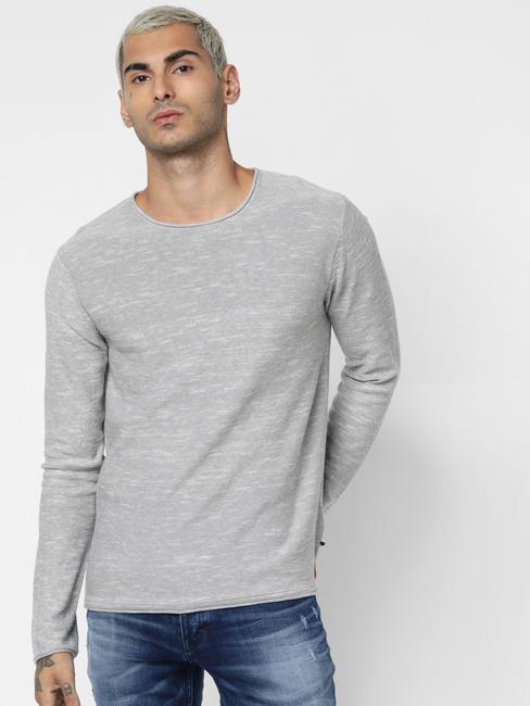 Light Grey Crew Neck Pullover