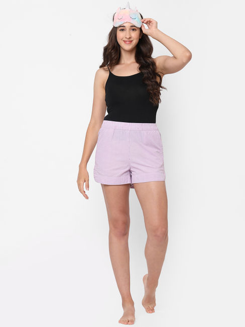 Comfy Green Cotton Lounge Shorts