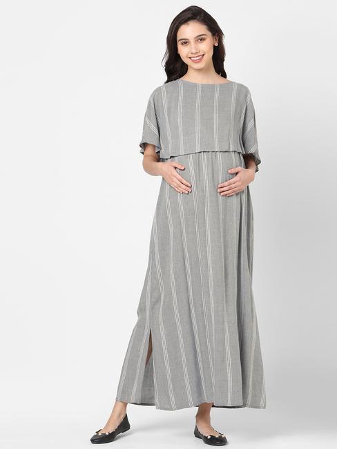 Casual Printed Maternity Dress