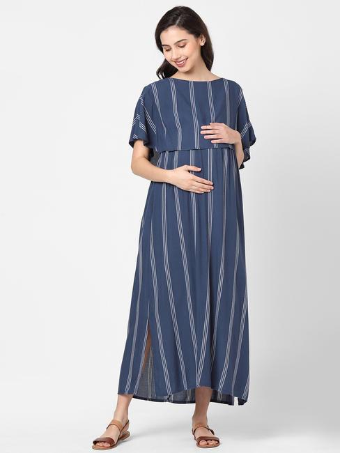 Radiant Blue Maternity Dress