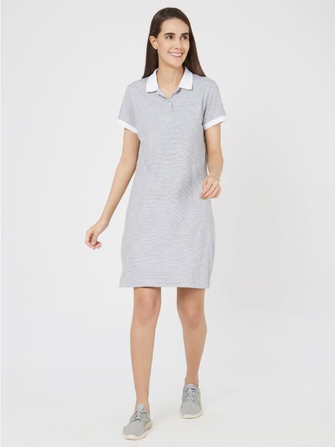 Sporty Collared Lounge Dress