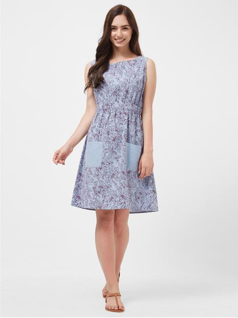 Floral Chambray Lounge Dress