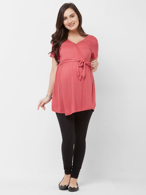 Maternity Solid Maternity Top