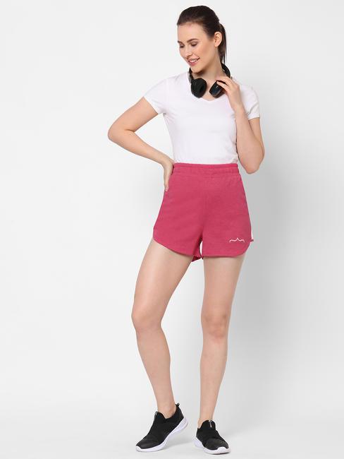 Stylish Pink Cotton Sports Shorts