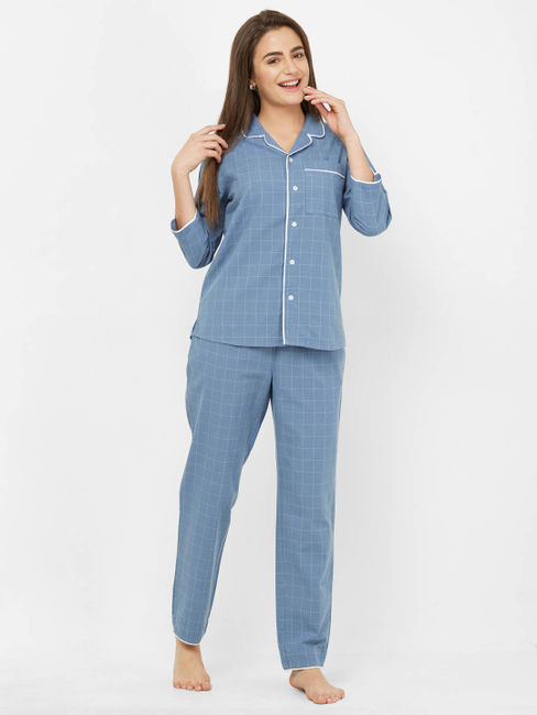 Large Checks Pyjama Set