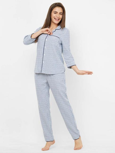 Winter Heart Striped Pyjama Set