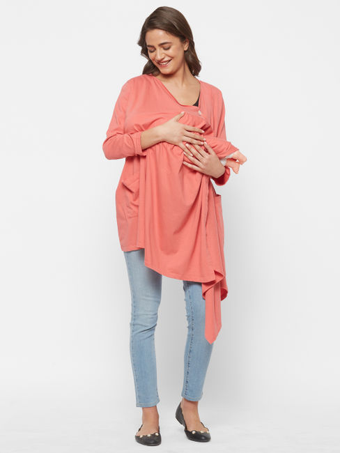 Chic Maternity Cardigan