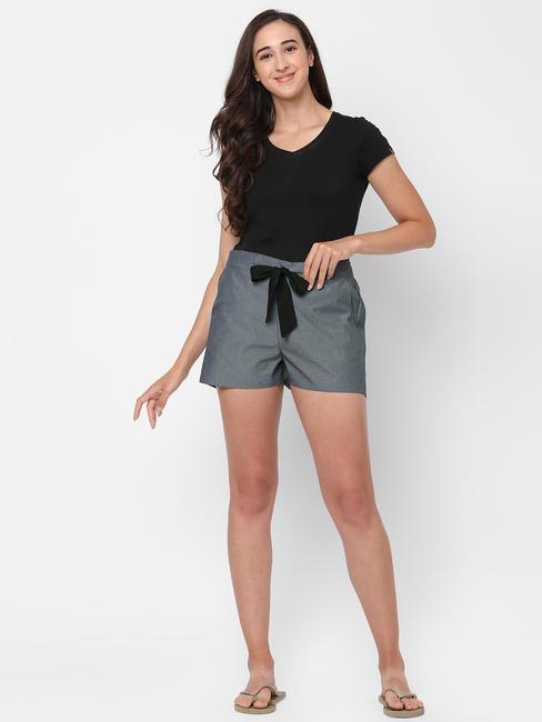 Classic Charcoal Cotton Lounge Shorts