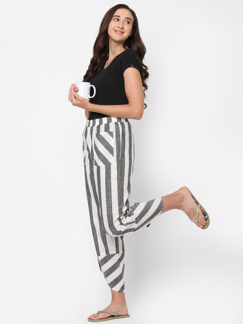 Classic Striped Cotton Lounge Pants