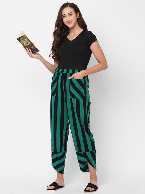 Stylish Striped Cotton Lounge Pants