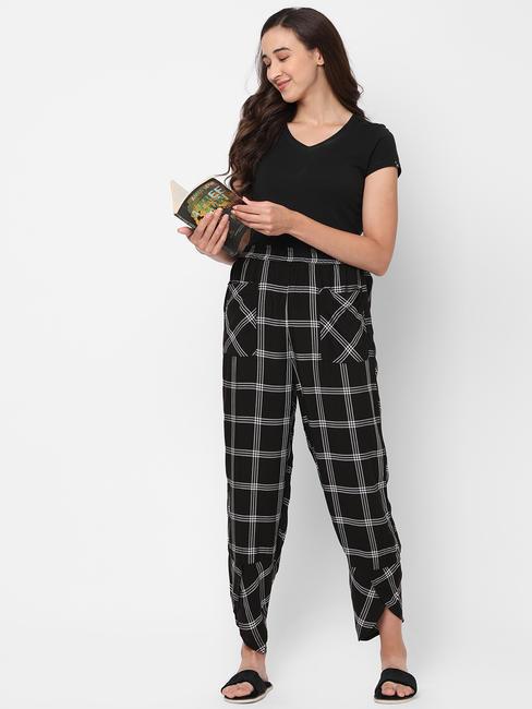 Classy Checked Rayon Lounge Pants