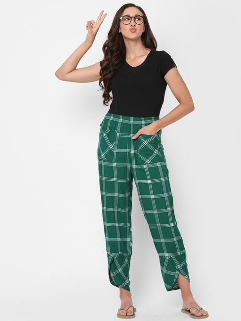 Comfy Checked Rayon Lounge Pants