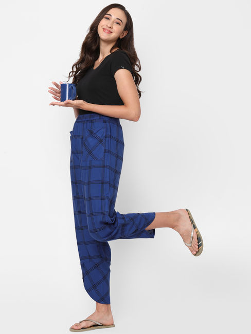 Stylish Checked Rayon Lounge Pants