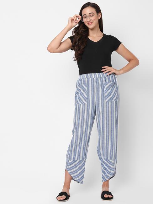 Cute Striped Cotton Lounge Pants