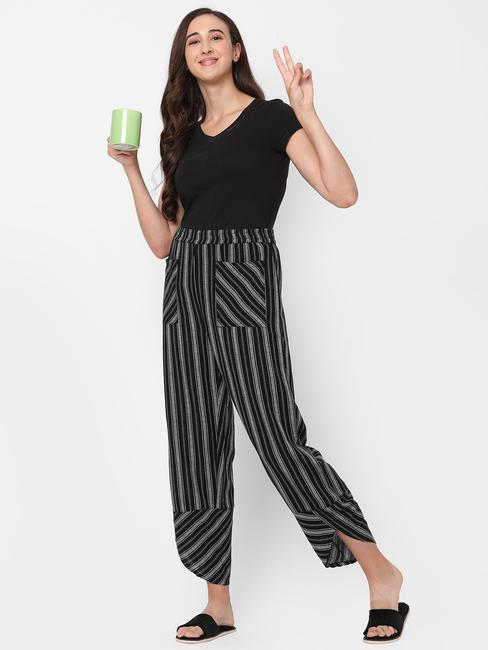 Chic Striped Cotton Lounge Pants