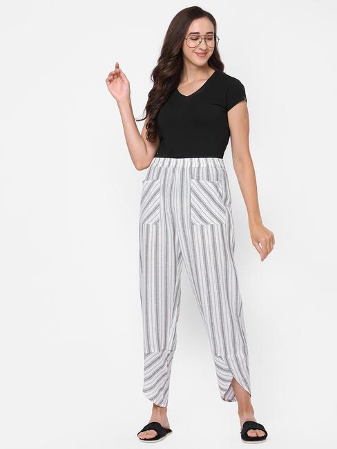 Elegant Striped Cotton Lounge Pants