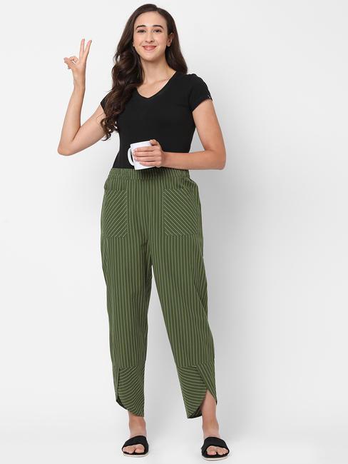 Striking Striped Cotton Lounge Pants