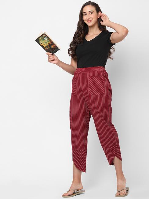Stunning Striped Cotton Lounge Pants