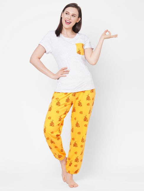 Comfy Yellow Cotton Pyjama Set