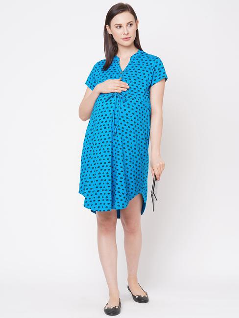 Polka Dot Maternity Dress