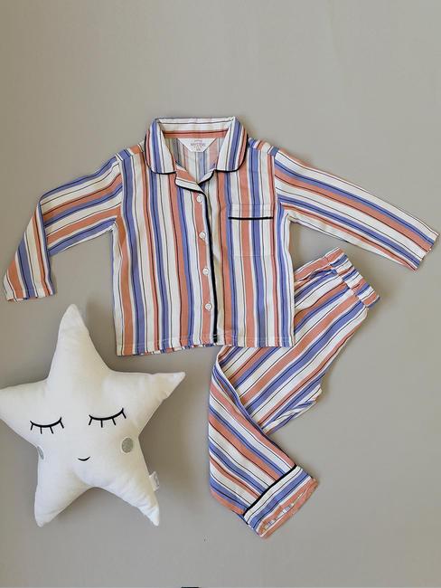 Girls Classic Striped Pyjama Set