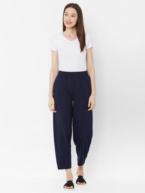 Cutesy Casual Navy Blue Pants
