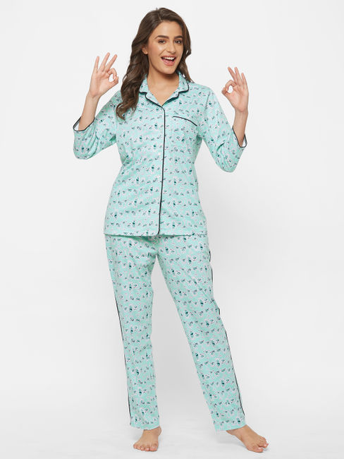 Cocktail Print Pyjama Set
