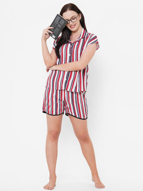 Comfy Striped Shorts Set