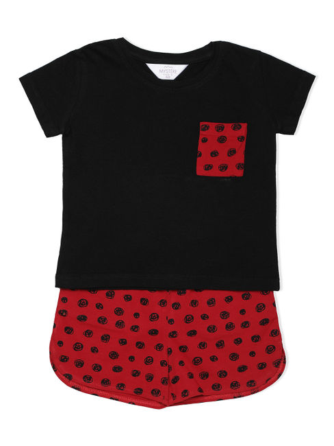 Girls Polka Dot T-Shirt & Shorts Set