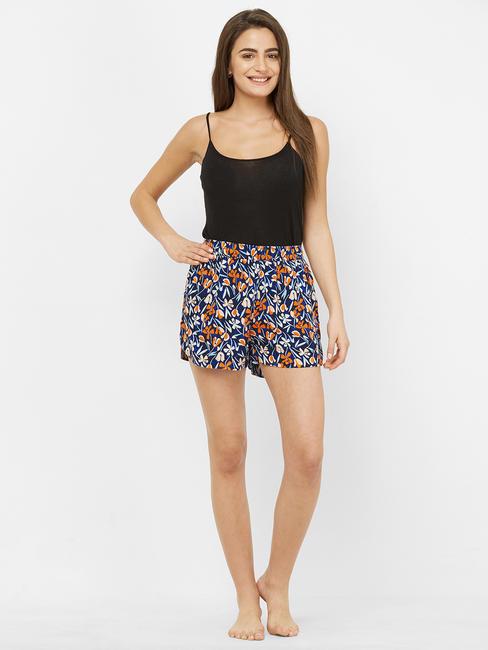 Floral Print Sleep Shorts