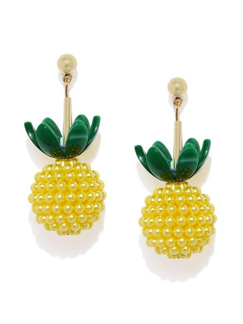 Yellow & Green Quirky Drop Earrings